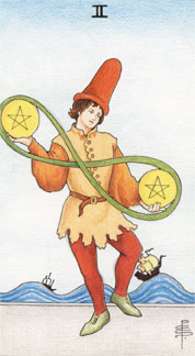 two-of-pentacles
