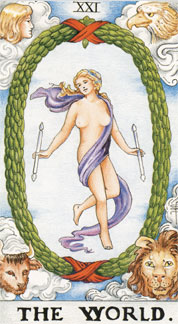 Sasha Graham's Tarot Card a Day Blog – The World and a Little Unsolicited New Year's A